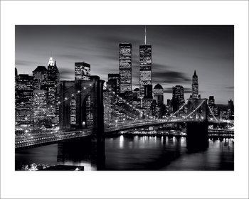 Brooklyn Bridge at Night - B&W Taidejuliste