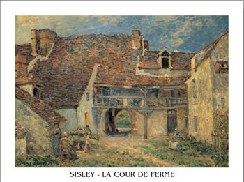 Courtyard of Farm at St. Mammes, 1884 Taidejuliste