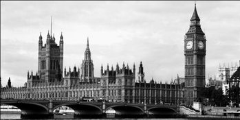 Lontoo - Houses of Parliament and Big Ben Taidejuliste