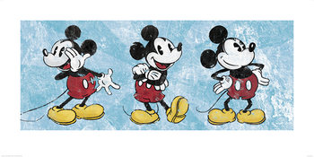 Mickey Mouse - Squeaky Chic Triptych Taidejuliste