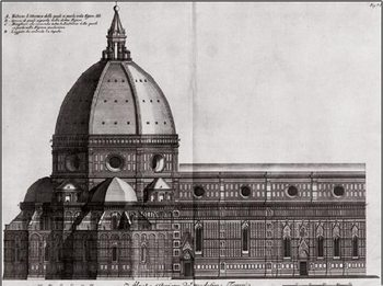 Side View of Santa Maria del Fiore, Florence Cathedral Taidejuliste