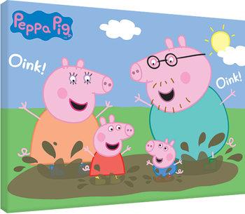 Tela Peppa Pig - Pig Family Muddy Puddles