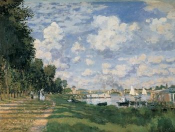 The Seine Basin at Argenteuil (part) Reproduction d'art
