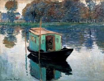 The Studio Boat, 1874 Reproduction d'art