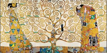 The Tree Of Life, The Fulfillment (The Embrace), The Waiting - Stoclit Frieze, 1912 Reproduction d'art