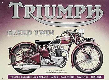 TRIUMPH SPEED TWIN Plaque métal décorée