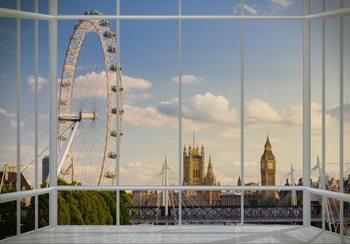 Valokuvatapetti Lontoo - ikkuna