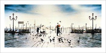 Venise - Il Bacio Reproduction d'art