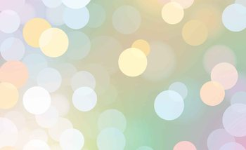 Abstract Bokeh Pastel Colour Poster Mural