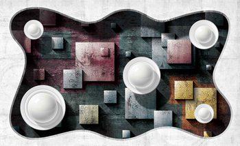 Abstract Modern Design Art Spheres Poster Mural