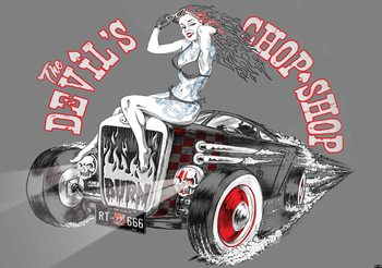Alchemy Hot Rod Devil Car Poster Mural