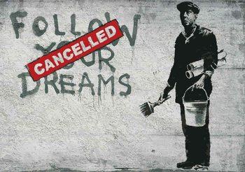 Banksy Graffiti Concrete Wall Poster Mural