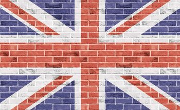 Brick Wall Union Jack Poster Mural