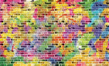 Bricks Multicolour Poster Mural
