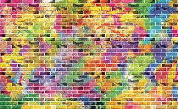 Briques multicolores Poster Mural