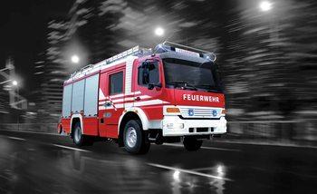 Camion de pompier Poster Mural