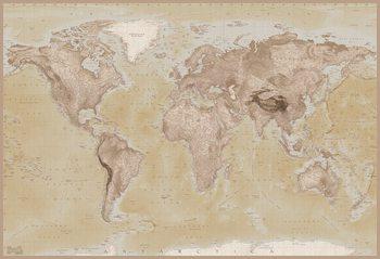 Carte du Monde Poster Mural