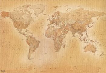 Carte du monde - Old map Poster Mural