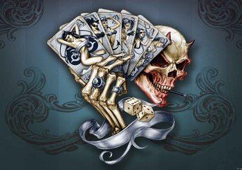 Cartes à motif de crâne Poster Mural