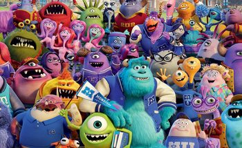 Disney Monsters Inc Poster Mural