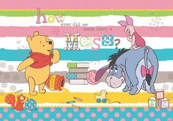 Disney Winnie Pooh Eeyore Piglet Poster Mural
