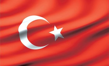Drapeau Turquie Poster Mural