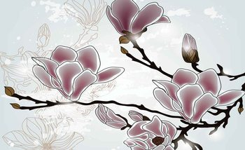 Flowers Magnolia Branch Poster Mural