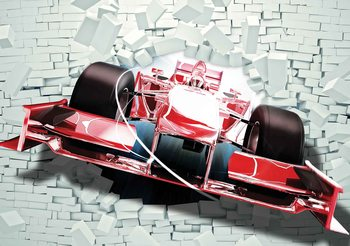 Formula 1 Racing Car Bricks Poster Mural
