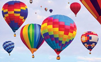Hot Air Baloons Colours Poster Mural