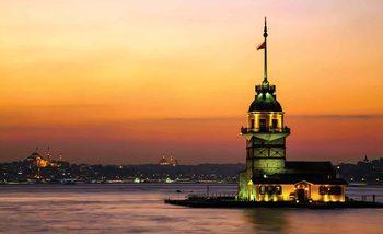 Istanbul City Urban Sunset Poster Mural