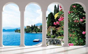Lac de Côme Italie Arches Poster Mural