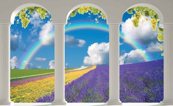 Lavendar Field Nature Arches Poster Mural