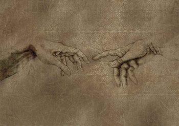 Michaelangelo Création d'Adam Poster Mural