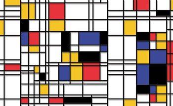 Mondrian Modern Art Poster Mural