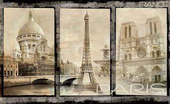 Paris City Poster Mural