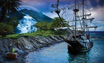 Pirate Sailing Ship Poster Mural