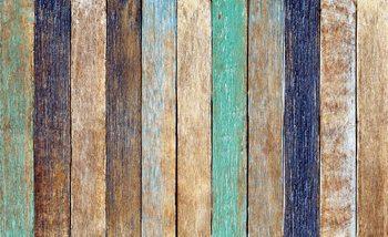 Planches de clôture en bois Poster Mural