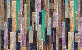 Planches en bois peintes Rustique Poster Mural