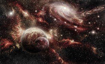 Planètes spatiales Poster Mural