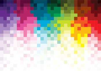 Rainbow Pattern Pixel Poster Mural
