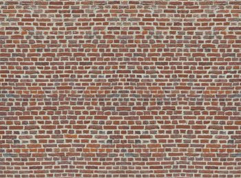 Red Brick Wall Poster Mural