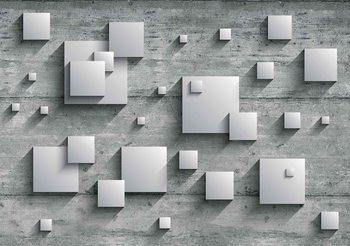 Résumé moderne gris argenté Poster Mural