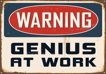 Retro Poster Genius Poster Mural
