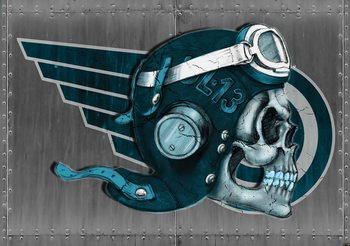 Skull Flying Tattoo Poster Mural