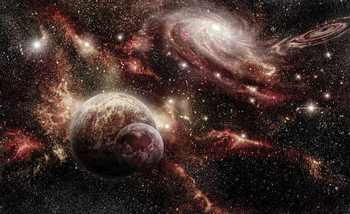 Space Planets Poster Mural