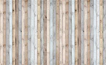 Texture de planches de bois Poster Mural