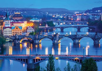 Ville de Prague Bridges Poster Mural