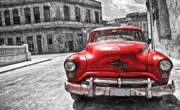 Vintage Car Poster Mural