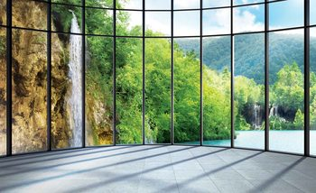 Voir paysage tropical Poster Mural