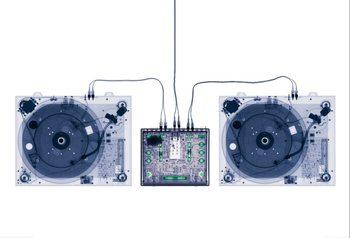 X-Ray DJ Decks Poster Mural